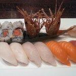 sushi dinner with sweet shrimp