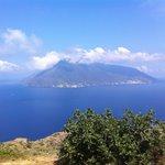 Vistas de Salina desde Lípari