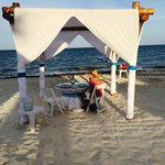 Romantic Dinner on the beach, included in the honeymoon package or $200-$250 if not