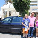 My family with Michael and the Mercedes.