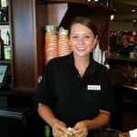 bartender in hotel bar/restaurant