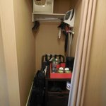 Closet, small and not very accessible.