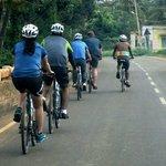 Cycling just outside Bangalore