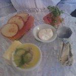 Beautiful fish platter