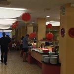 Restaurante ambientado asiático