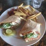 Chicken club wrap...