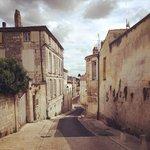 A street leading down to La Porte Rouge
