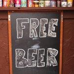 Free Beer?? Am I wrong? No, just drunk...