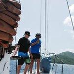 Father & son bonding aboard Catania