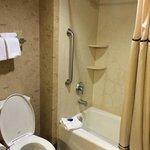 Large, spotlessly clean bathroom