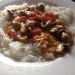 Mushroom Stroganoff - Veggie Option...nice