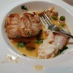 La Lotte..um peixe feioso..mas muito valorizado na França.  Tem sabor suave e textura densa..dif