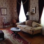 a sitting room at the Berry Manor Inn