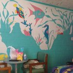 Really cool paintings on the wall