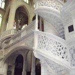 le scale di marmo bianco traforate