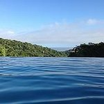 View out from the edge of the infinity pool