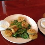 Fried Pickles, huge plateful, delicious, could not eat them all!!