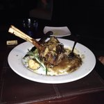 Veal chop stuffed with fresh mozz and prosciutto