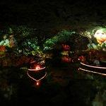 Представление на подземном озерце