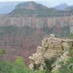 view of the canyon from the right side of the veranda