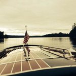 Cruising Saranac Lake in the The Point's Hacker Craft