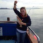 A proud fisherwoman!