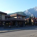 The hotel is just a minute away from Banff town center