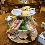 Amazing afternoon tea in the Ampleforth Abbey Tea Room!
