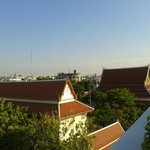 view from swimming pool on the hotel roof
