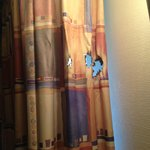 Burn in curtain
