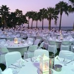 White night, a spectacular dinner setting for all Palmyie guests on the hotel lawns