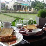 breakfast by the rice paddies