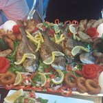 this was our fish platter that was made for us