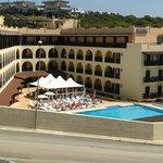 l'hotel visto dal Mirador