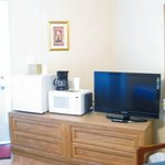 Plus room includes flat screen, mini frig, microwave & coffee maker