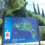 island info board in harbour