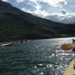 paddling on the Fjord