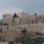 View of Acropolis from rooftop bar