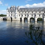 Chenonceaux from the left hand river bank