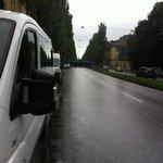 transito em frente ao hotel