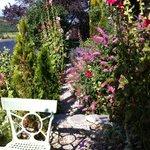 Une allée du jardin fleuri