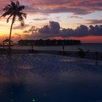 A beautiful sunset at the waterbar