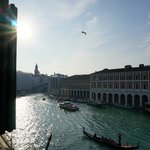 View from room looking towards the Rialto Bridge.