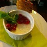 foie gras di anatra con marmellata di ribes rosso