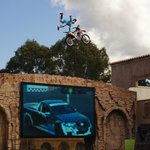 Motorcycle/car stunt show