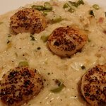 scallops in asparagus and ricotta risotto (there were 5 but I ate one)