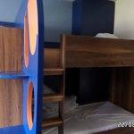 bunk bed in main room