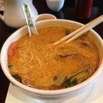 #413 beef Satay soup