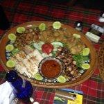 Seafood platter, yummy!