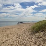 One of the beaches at Presque Isle State Park
